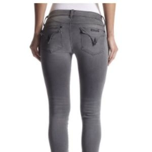 Hudson Collin Skinny MidRise Grey Jeans